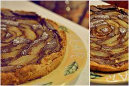 Изображение рецепта Шоколадно-грушевый пирог на творожном тесте