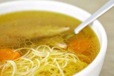 Изображение рецепта ''Куриный суп с вермишелью и овощами ''