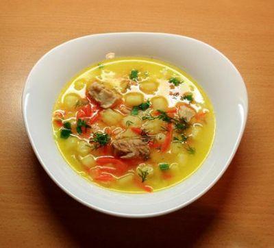 Изображение рецепта ''Суп из рыбных консервов с картофелем ''