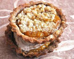 Изображение рецепта Тарталетки с тыквой и ореховыми меренгами/штрейзелем