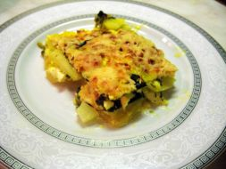 Изображение рецепта Запечёный картофель со шпинатом