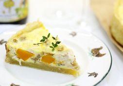 Изображение рецепта Киш с курицей, тыквой и каштанами