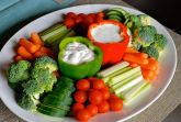 Овощи с белым соусом
