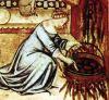 """На пропитавшийся бульоном тонущий хлеб вылейте полстакана светлого пива (желательно нефильтрованного). В оригинальном рецепте, правда, значился светлый имбирный эль, но где ж его взять в наше темное время... После такого """"корабль"""" непременно пойдёт ко дну, можно взять ложку и хорошенько размешать варево, раздробив хлеб на мелкие кусочки."""
