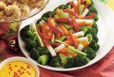 Овощи с желтым соусом
