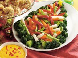 Изображение рецепта Овощи с желтым соусом