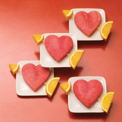 Изображение рецепта ''Арбузные сердечки''