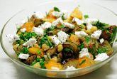 Теплый салат из нута, баклажанов и как-бы-с-фетой