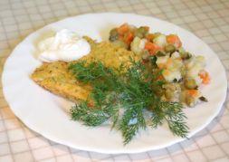 Изображение рецепта Омлет с помидорами и зеленью