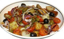 Изображение рецепта Теплый салат с подсушенными помидорами