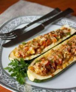 Изображение рецепта Лодочки из кабачков в духовке