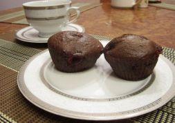 Изображение рецепта Шоколадные маффины с вишней