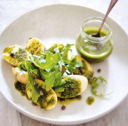 Изображение рецепта Теплый салат из картофеля с зеленой сальсой