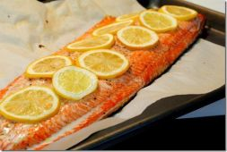 Изображение рецепта Филе лосося, запеченное с овощами