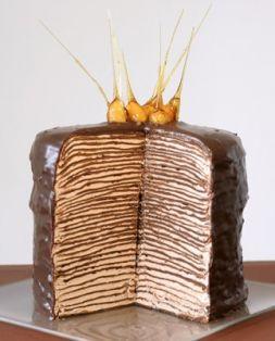 Изображение рецепта Блинный шоколадный торт