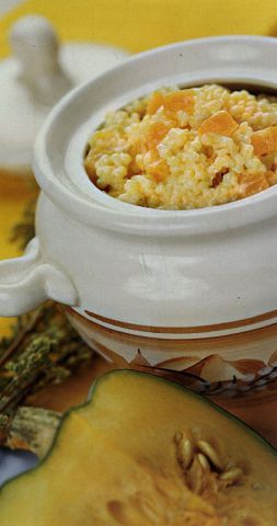 Изображение рецепта Рисовая каша с тыквой в горшочке