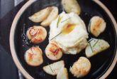 Морские гребешки с топинамбуром