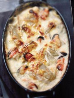 Изображение рецепта Гратен с мидиями и мангольдом