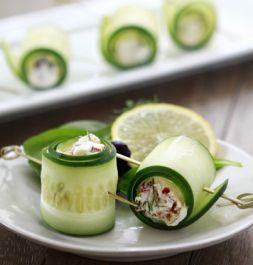 Изображение рецепта Огуречные роллы с сыром фета