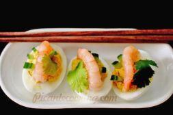 Изображение рецепта Фаршированные яйца фьюжн с тайским акцентом