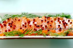 Изображение рецепта Соленая семга в цедре цитрусовых с можжевельником