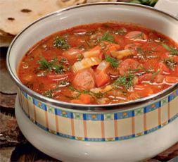 Изображение рецепта Чечевичная похлебка с сосисками