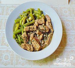 Изображение рецепта Свинина с карри и стручковой фасолью