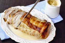 Изображение рецепта Свинина с яблочным соусом с коньяком