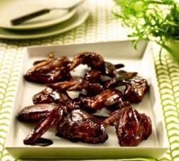 Изображение рецепта Крылышки в соево-медовом соусе