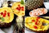 Креветки в ананасе с кокосовым молоком