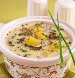 Изображение рецепта Сырный суп с грибами