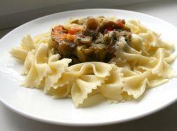 Изображение рецепта Паста с теплым салатом из овощей гриль