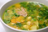Суп из нута и репы на крепком бараньем бульоне