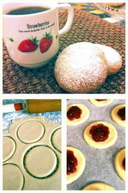 Изображение рецепта Творожное печенье с клубникой от Анастасии Зурабовой