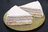 Торт на белках из черемуховой муки