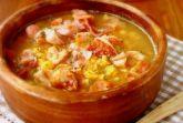 Густой гороховый суп с копчёностями