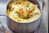 Картофельное пюре с печеным чесноком и петрушкой