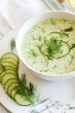 Изображение рецепта Холодный суп из огурцов и зелени