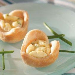 Изображение рецепта Тарталетки-сердечки с голубым сыром