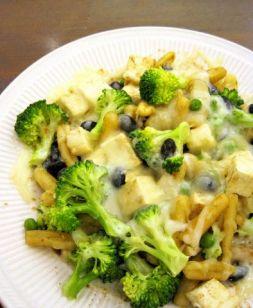 Изображение рецепта Брокколи с пастой и двумя сырами