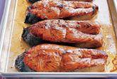 Стейк из лосося в глазури